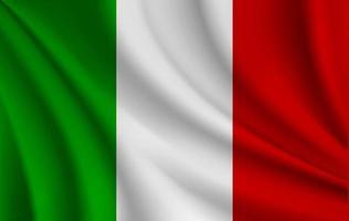 ilustração da bandeira italiana vetor