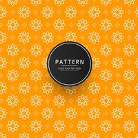 Projeto de padrão de ornamento floral abstrato sem emenda vetor