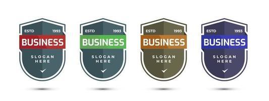 círculo de crachá de negócios ou design redondo. ilustração vetorial. vetor