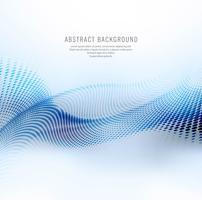 Fundo de onda de malha azul brilhante abstrato vetor