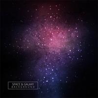 Estrelas e galáxia espaço colorido céu noite fundo vetor