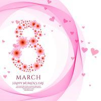 Feliz dia das mulheres cartão celebração fundo ilustração vetor