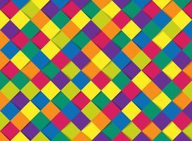 abstrato colorido quadrado padrão geométrico corte papel modelo de fundo vetor