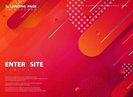 fundo da página da web da linha da listra colorida da tecnologia abstrata. ilustração vetorial eps10 vetor