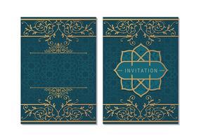 Cartão ou convite estilo islâmico vetor