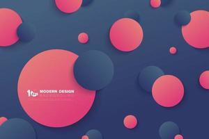 círculos gradientes abstratos de fundo de decoração de cor de contraste. vetor