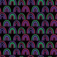 padrão sem emenda do arco-íris abstrato. padrão infantil em tons pastel suaves. ilustração vetorial desenhada à mão. design para têxteis, embalagens, invólucros vetor