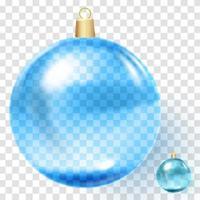 ilustração em vetor de decoração de natal azul legal
