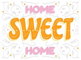 Design de letras lar doce lar vetor