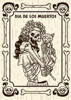 Dia da ilustração vetorial morto vetor