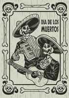 Dia da ilustração do crânio morto vetor