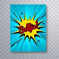 Belo design de modelo de folheto de arte pop em quadrinhos selfie