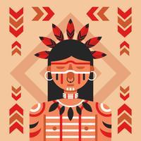 Vetor de povos indígenas