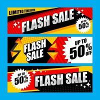 modelo de conjunto de banner de venda promocional vetor