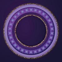 círculo fundo lavanda com recorte de papel vetor