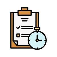 ícone de gerenciamento de tempo vetor