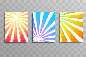 Projeto colorido do molde do folheto do negócio dos raios coloridos abstratos vetor
