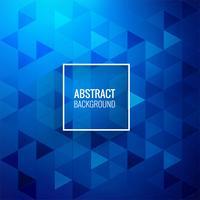 Triângulo azul abstrato lindo fundo vetor