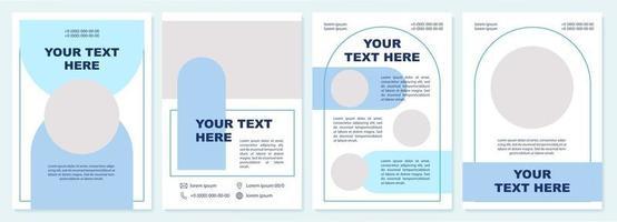 modelo de folheto comercial azul vetor