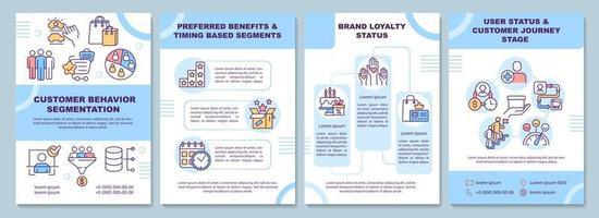 modelo de folheto de segmentação de comportamento do cliente vetor