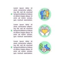 ícones de linha de conceito de vida cumpridos com texto vetor