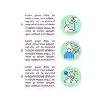 ícones de linha de conceito de satisfação no trabalho aumentada com texto vetor
