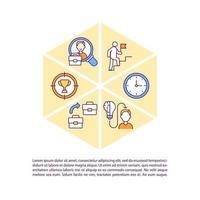 caminho para ícones de linha de conceito de sucesso com texto vetor