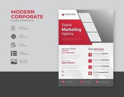 modelo de folheto empresarial moderno vetor