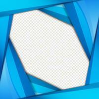 Vetor de fundo abstrato azul ondulado