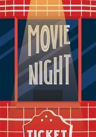 Design de vetor de noite de cinema