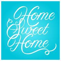 Casa plana doce lar Lettering Art ilustração vetorial vetor