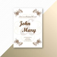 Fundo de modelo floral decorativo de cartão de casamento convite vetor