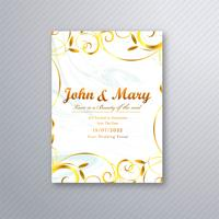 Fundo de modelo floral de cartão de casamento lindo vetor