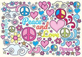 Paz e projeto de vetor de amor
