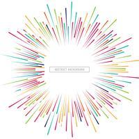 Ilustração de fundo bonito raios coloridos whit vetor