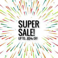 Vetor de fundo colorido moderno super venda