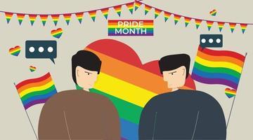 ilustração vetorial lgbtq casal lésbica gay bissexual vetor