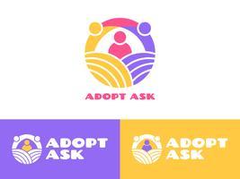 Vetores exclusivos de conscientização internacional de adoção