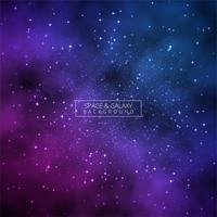 Vetor de fundo brilhante universo colorido galáxia brilhante