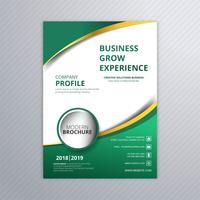 Modelo de folheto abstrato ondulado de negócios vetor