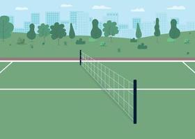 ilustração em vetor cor lisa quadra de tênis