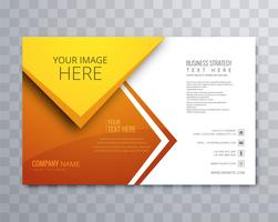 Belo negócio brochura projeto modelo vector