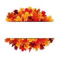 fundo de banner de folhas de outono brilhantes vetor