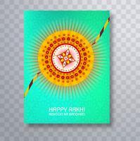 Design de modelo de cartão de folheto colorido Raksha bandhan vetor
