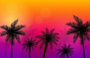 lindo fundo de palmeiras vetor