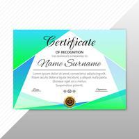 Fundo de modelo abstrato elegante certificado diploma vetor