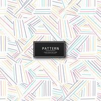 Design de padrão de linhas coloridas geométricas abstratas vetor