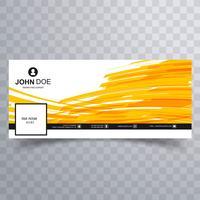 Design de modelo de banner abstrato timeline facebook vetor