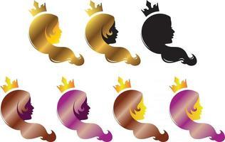 logotipo da beleza do cabelo vetor