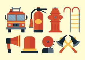 Conjunto de vetores de bombeiro